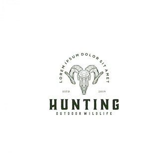 Hunting ram, goat logo animal wildlife
