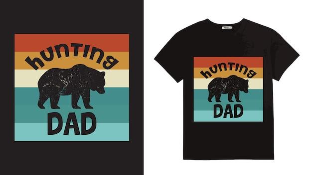 Tシャツのハンティングタイポグラフィレタリングデザイン