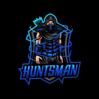 Охотник талисман логотип киберспорт игры