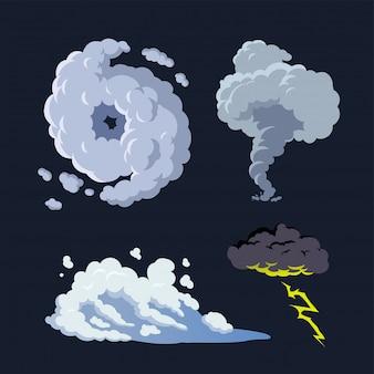Ураган штормовой нагон торнадо фон гроза