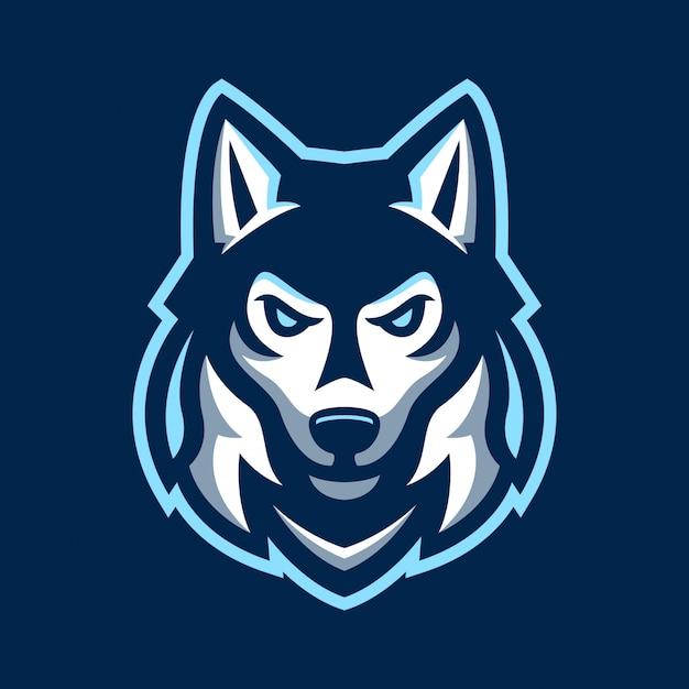 Husky dog sport logo