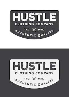 Hustle clothing company logo template