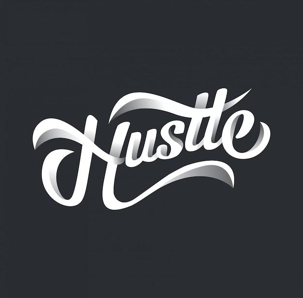 Hustle design typography