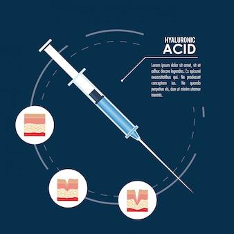 Ингаляция инъекции наполнителя гиалуроновой кислоты