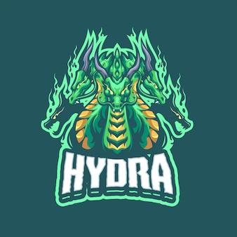 Eスポーツおよびスポーツチームのhydraマスコットロゴ