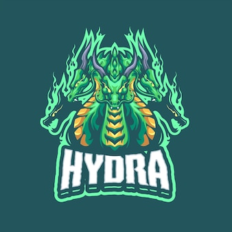 Логотип hydra mascot для киберспорта и спортивной команды