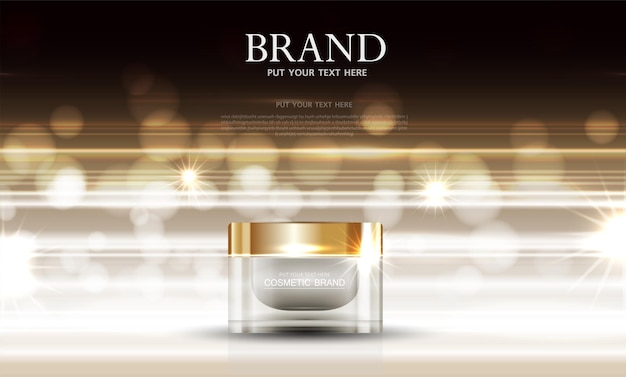 Hydrating facial skincare for annual sale or festival sale gold cream mask bottle isolated