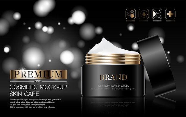 Hydrating facial skincare for annual sale or festival sale silver brown cream mask bottle isolated