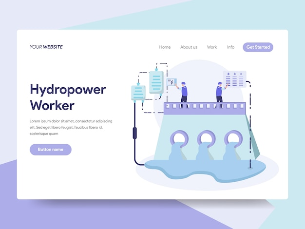 Hydropower energy illustration