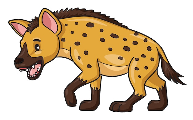 Hyena cartoon illustration