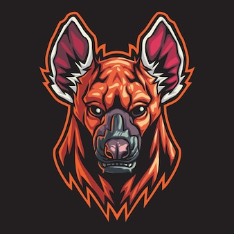 Hyena esport logo illustration