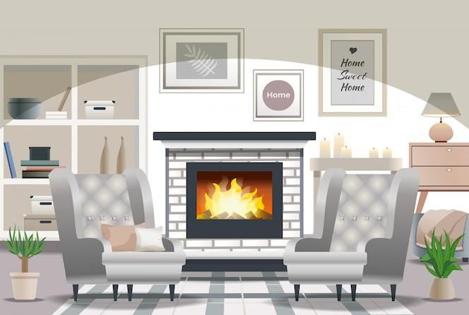 Hygge style interior design