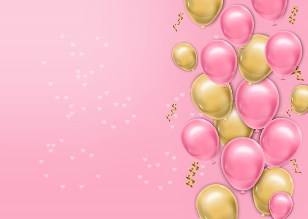 Hyper realistic balloons background