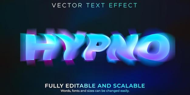 催眠テキスト効果、編集可能なモーション、めまいテキストスタイル