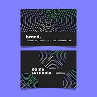 Hypnotic circles visit business card