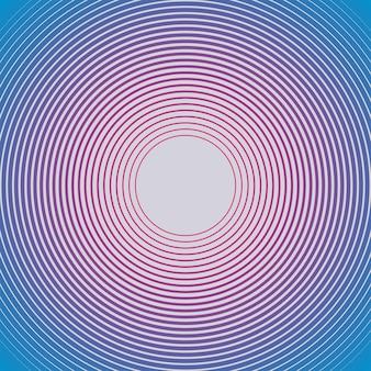 최면 기하학적 패턴입니다. 창의적이고 우아한 스타일의 일러스트레이션 프리미엄 벡터