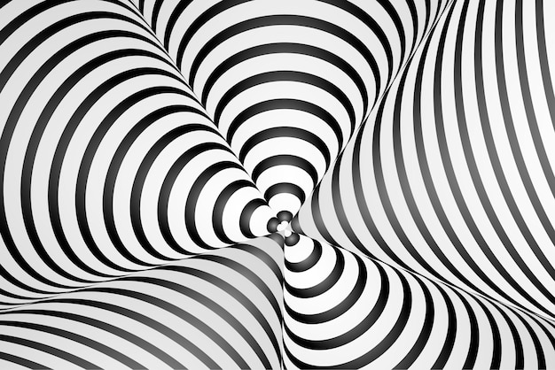 Hypnotic optical illusion background
