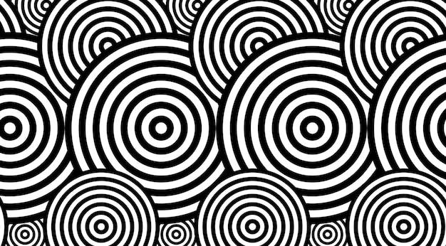 Гиптонический узор с кругами vvector дизайн.