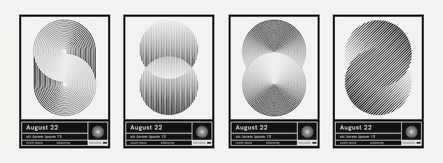 円vvectorデザインの催眠パターン。