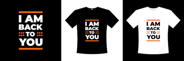 タイポグラフィtシャツのデザインに戻ってきました