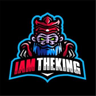 I am the king mascot gaming logo