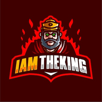 I am theking mascot gaming logo