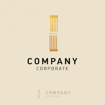 I company logo design with visiting card vector