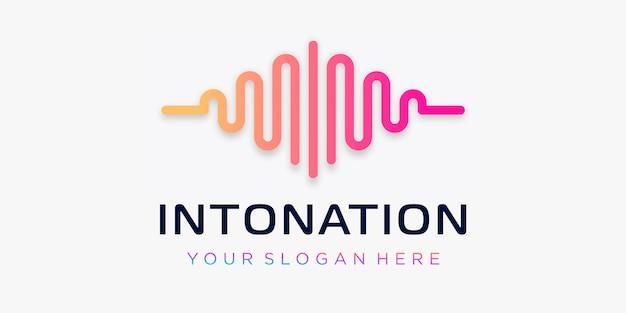 パルスの手紙i。イントネーション要素。ロゴテンプレート電子音楽、イコライザー、ストア、dj音楽、ナイトクラブ、ディスコ。オーディオウェーブのロゴのコンセプト、マルチメディア技術をテーマにした、抽象的な形。