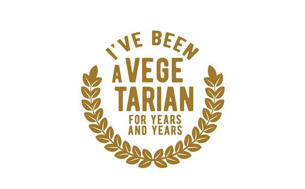 나는 몇 년 동안 채식주의자였습니다.