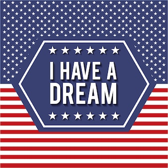 I have a dream badge poster with stars and stripes background