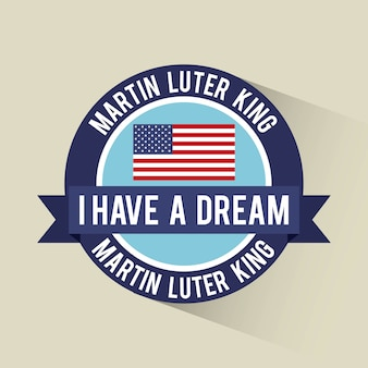 I have a dream banner flag american