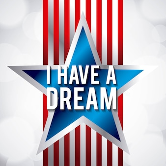 I have a dream blue star and red stripes