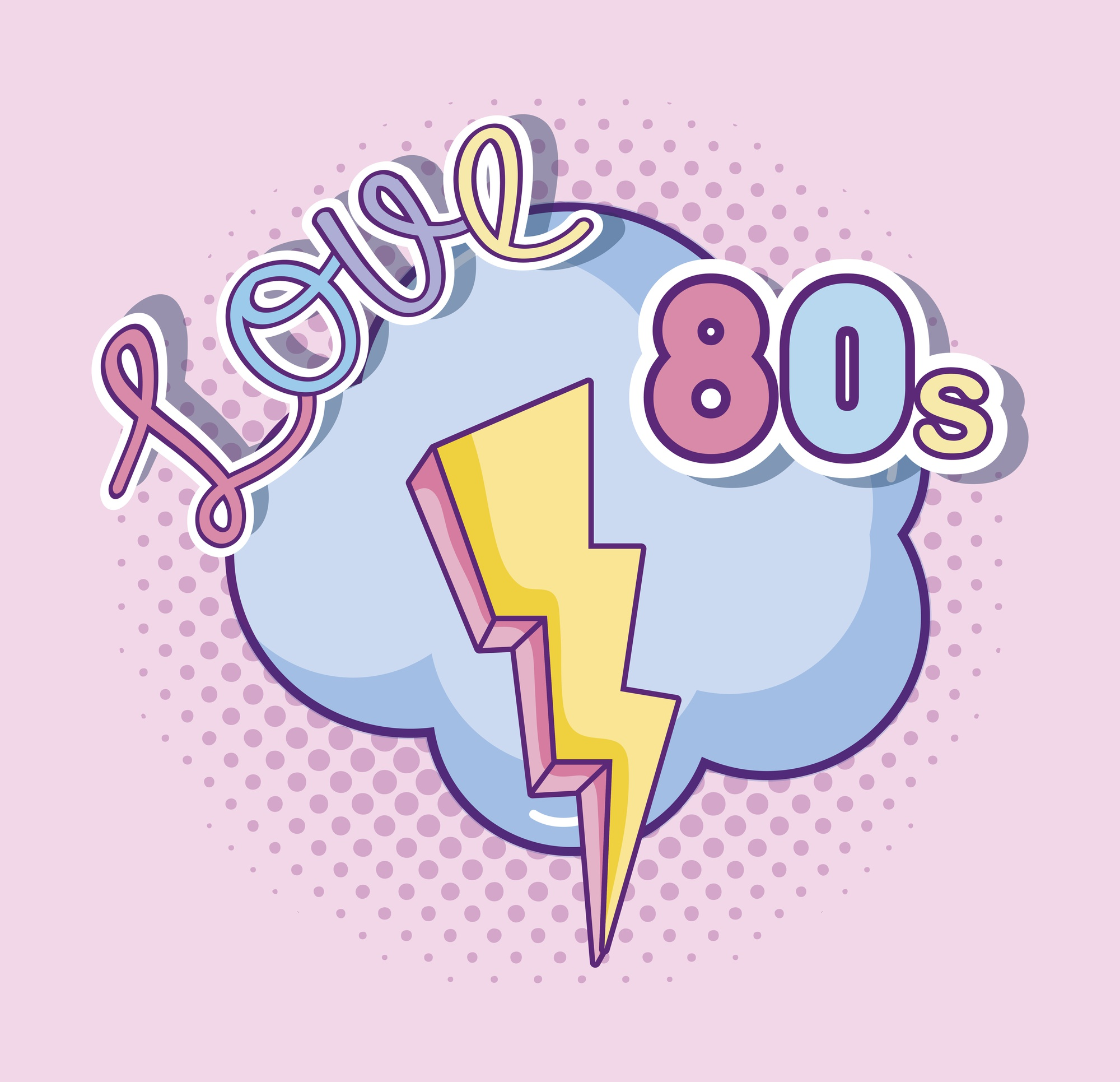I love 80s cartoons vector illustration graphic design