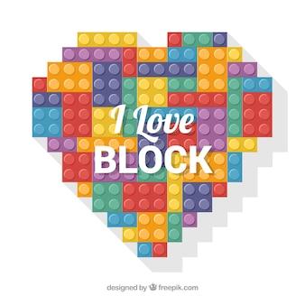私はブロックの背景が大好き