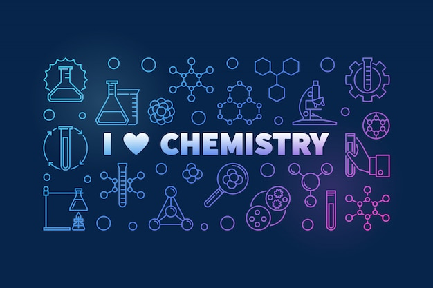 I love chemistry colored background