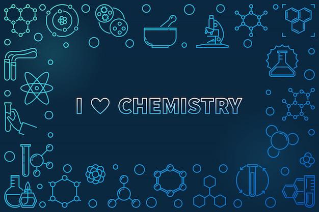 I love chemistry linear frame