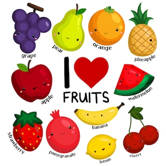 I love fruits