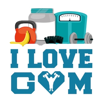 I love gym fitness sport card