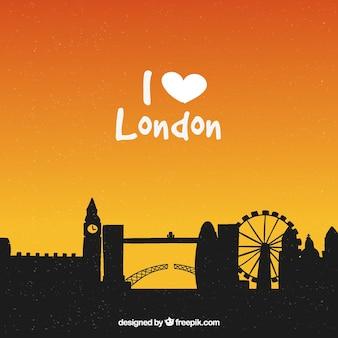 나는 런던 스카이 라인을 좋아한다