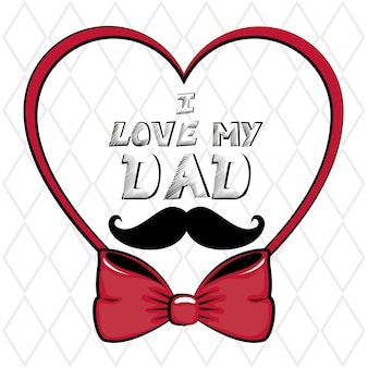 I love my dad sign with heart