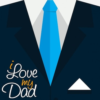 I love my dad typography on suit