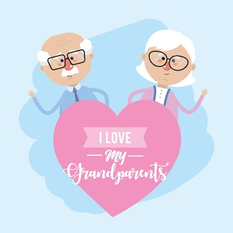 I love my grandparents celebration design
