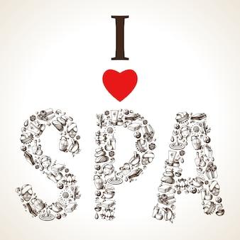I love spa sketch lettering