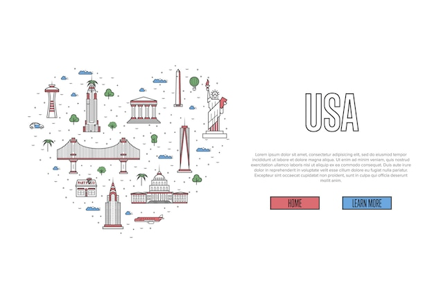 I love usa template in linear style