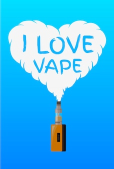 I love vape, logo or symbol