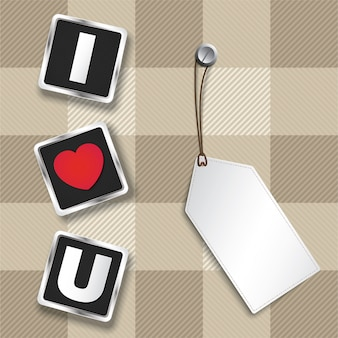 I love you 3D text to show  for Valentine's day.