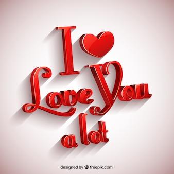 나는 당신을 많이 사랑합니다 인사말 카드