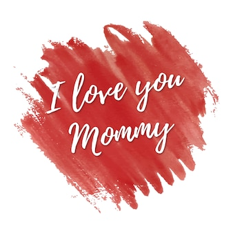 I love you card for mothers day