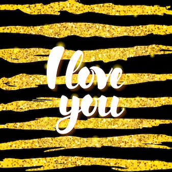 Я люблю тебя карта. векторная иллюстрация поздравительной открытки дня святого валентина с каллиграфией. элементы дизайна рисованной.