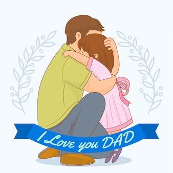 I love dad card vector free download - I love you daddy download ...